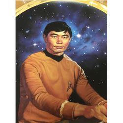 """1991 25th Anniversary Commemorative Star Trek Plate """" SULU""""  in the Box"""