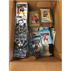 Box of Hundreds of NHL Trading Cards. Mostly from 1990's