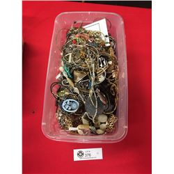 """Container  of Costume Jewelry Container measures 13"""" x 7"""" x 4.5"""""""