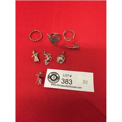 Lot of 3 Sterling Silver Rings, and 5 Sterling Silver Pendants