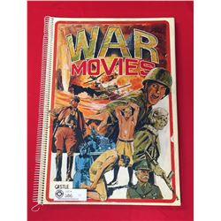 """12.5"""" x 17 Big Book on War Movies. Photos, Stories and Movie Posters"""