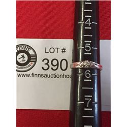 Size 5.5 10 Karat White Gold Ring with a Small Diamond