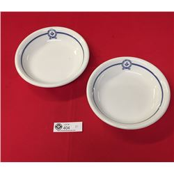 "2 Shallow Dish Bowls North Vancouver Masonic Association. 8"" Diameter 1.5"" H"
