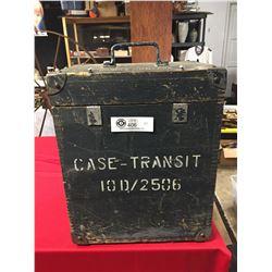 "Vintage Case Transit 10D/2506 1943 Royal irforce Indicatior. FrType C2 12"" x 9.5"" x 15"""