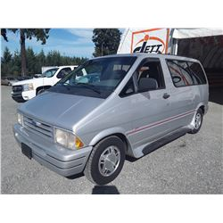 """A5 --  1993 FORD AEROSTAR , Grey , 213579  KM's """"NORESERVE"""""""