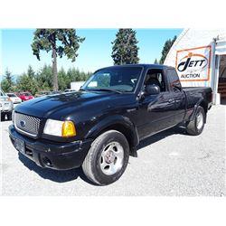 F1 --  2001 FORD RANGER , Black , 305828  KM's