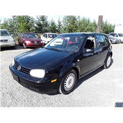 """A3 --  2003 VW GOLF CL , Black , 192782  KM's """"NO RESERVE"""""""