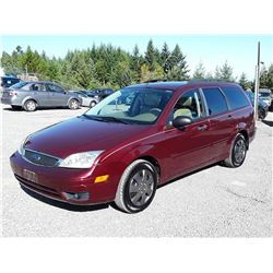"""A2 --  2007 FORD FOCUS ZXW  , Red , 178743  KM's """"NO RESERVE"""""""