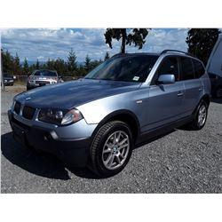H6 --  2006 BMW X3 , Blue , 182431  KM's