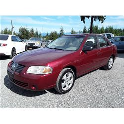 N4 --  2004 NISSAN SENTRA , Red , 282931  KM's