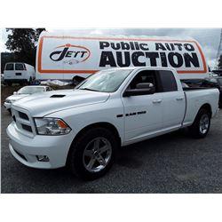 G4 --  2012 DODGE RAM 1500 CREW CAB , White , 140978  KM's