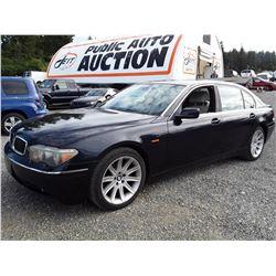 E1 --  2004 BMW 745LI  , Black , 167491  KM's