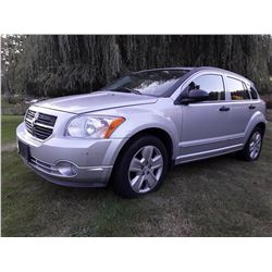 C6 -- 2007 DODGE CALIBER SXT HATCHBACK, GREY, 189,846 KMS