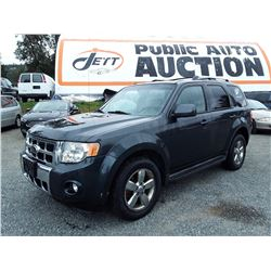 G6 --  2009 FORD ESCAPE LTD  , Black , 260235  KM's