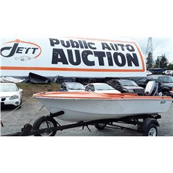 0A --  195x Elgin Boat with 1997 Trailer & 1987 Evinrude Motor