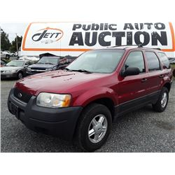 L4 --  2003 FORD ESCAPE , Red , 252437  KM's