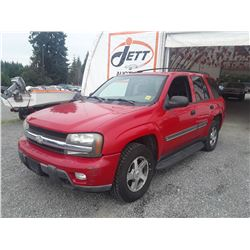 N2 --  2002 CHEVROLET TRAILBLAZER , Red , 321729  KM's