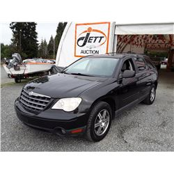 J6 --  2008 CHRYSLER PACIFICA TOURING , Black , 222496  KM's