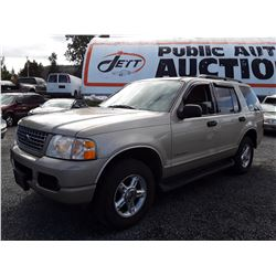 L3 --  2004 FORD EXPLORER XLT , Brown , 235222  KM's