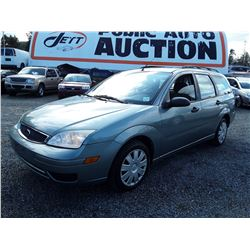 """A1 --  2005 FORD FOCUS , Green , 207518  KM's """"NO RESERVE"""""""