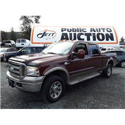 K2 --  2007 FORD F250 SUPER DUTY KING RANCH , Red , 302420  KM's