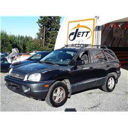A12 -- 2004 HYUNDAI SANTA FE SUV, BLACK, 237,986 KMS