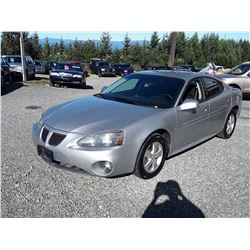 "A12C --  2007 PONTIAC GRAND PRIX , Grey , 145577  KM's ""NO RESERVE"""