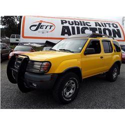 A5 --  2001 NISSAN XTERRA XE SUV, YELLOW, 301,715 KMS