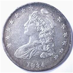 1834 BUST HALF DOLAR AU