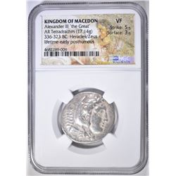 336-323 BC TETRADRACHM KINGDOM OF MACEDON