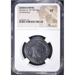 238-244 AD SESTERTLUS  ROMAN EMPIRE