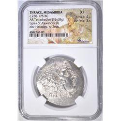 250-175 BC TETRADRACHM THRACE, MESAMBRIA