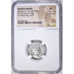 238-244 AD DENARIUS  ROMAN EMPIRE GORDIAN III