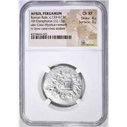 133-67 BC CISTOPHORUS  MYSIA, PERGAMUM