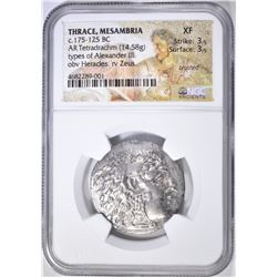 175-125 BC TETRADRACHM  THRACE, MESAMBRIA