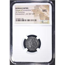 303-337 AD NUMMUS  ROMAN EMPIRE