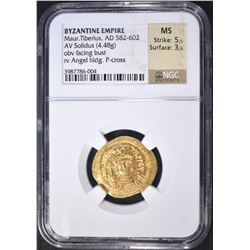 582-602 AD  SOLIDUS BYZANTINE EMPIRE