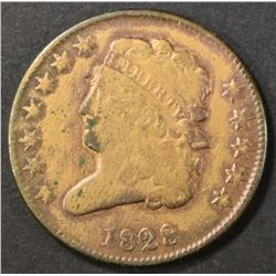 1828 HALF CENT   VG
