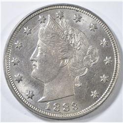 1883 NO CENTS LIBERTY NICKEL   CH BU