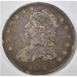 1834 BUST HALF DOLLAR   VF