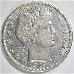 1915 BARBER HALF DOLLAR  XF