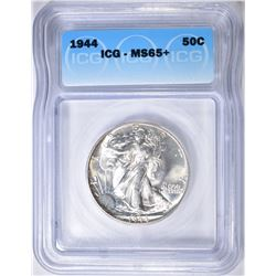 1944 WALKING LIBERTY HALF DOLLAR   ICG MS-65+