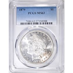 1879 MORGAN DOLLAR  PCGS MS-63