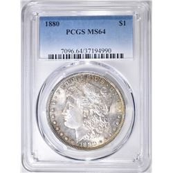 1880 MORGAN DOLLAR  PCGS MS-64