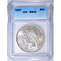 1927 PEACE DOLLAR  ICG MS-65