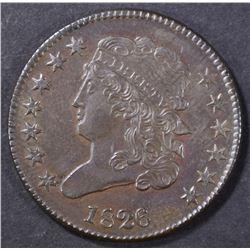 1826 HALF CENT  CH/GEM UNC