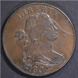 1802 LARGE CENT  CH AU