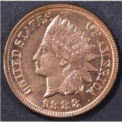 1888 INDIAN HEAD CENT  GEM BU   FULL RED