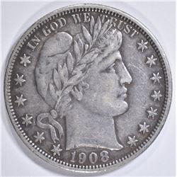 1908-O BARBER HALF DOLLAR  XF