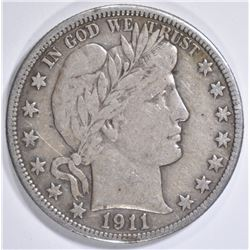 1911 BARBER HALF DOLLAR  VF/XF